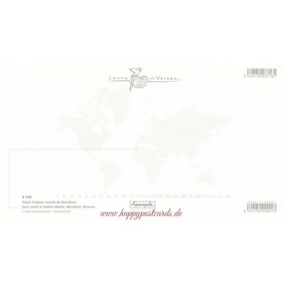 Gewürzstand - Marrakecsh - Marokko - Aquarupella Postkarte