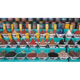 Spice stand in the souk - Assouan - Egypt - Aquarupella postcard
