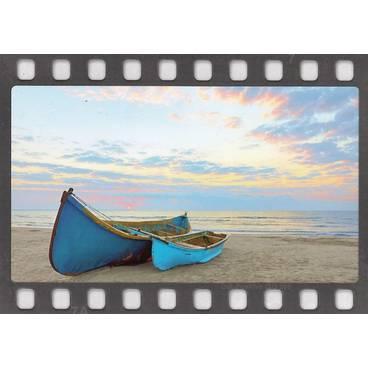 Blaue Boote - DIA-Postkarte