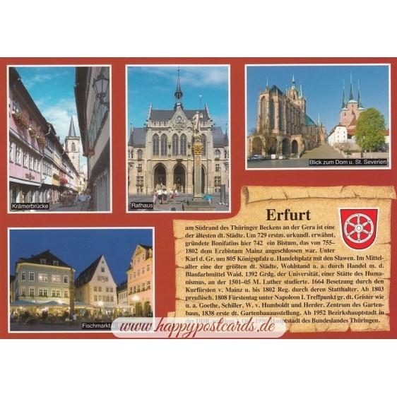 Erfurt - Chronikkarte
