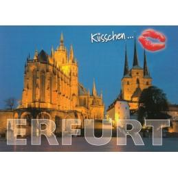 Küsschen Erfurt - Postkarte