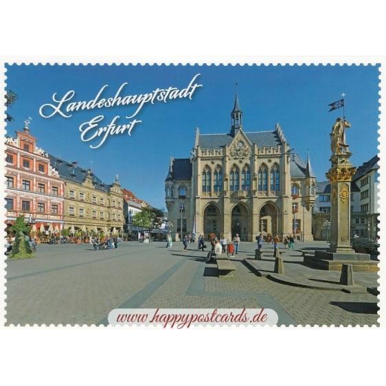 Erfurt - Stampborder - Viewcard