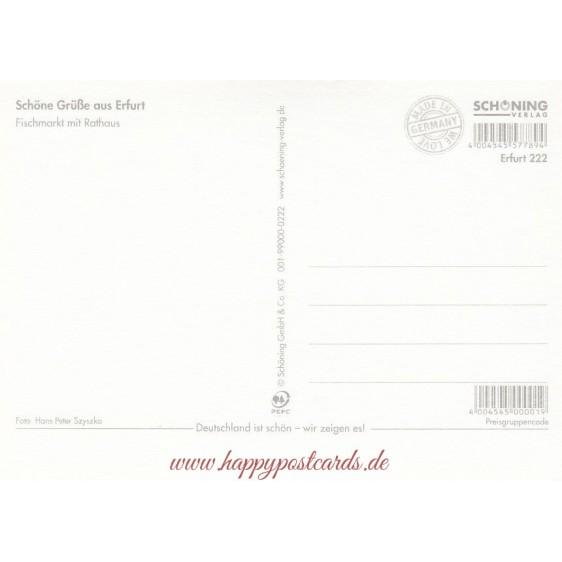 Erfurt - Briefmarkenrand - Postkarte