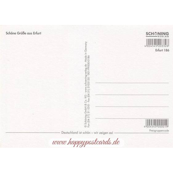 Erfurt - Ortsschild - Postkarte