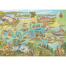 Edersee - Map - Postcard