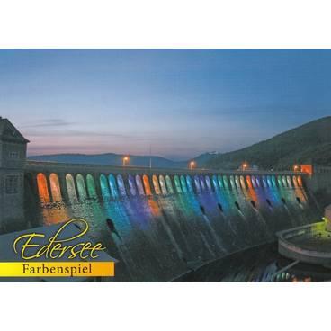 Edersee - Farbenspiel - Postkarte
