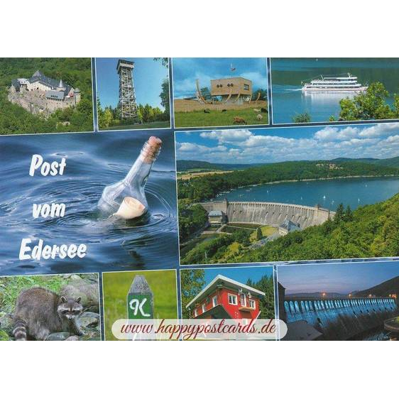 Post vom Edersee - Postkarte