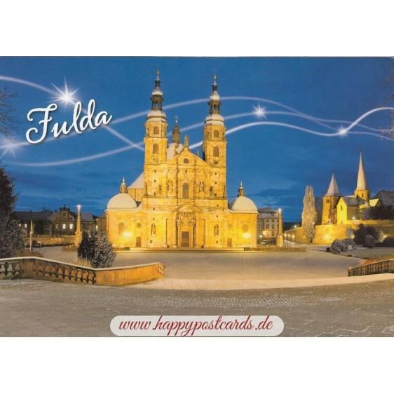 Fulda - Abendlicher Dom - Postkarte
