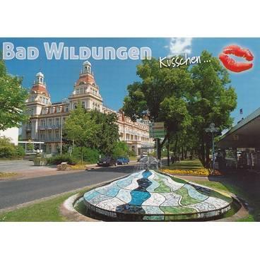 Küsschen Bad Wildungen - Postkarte