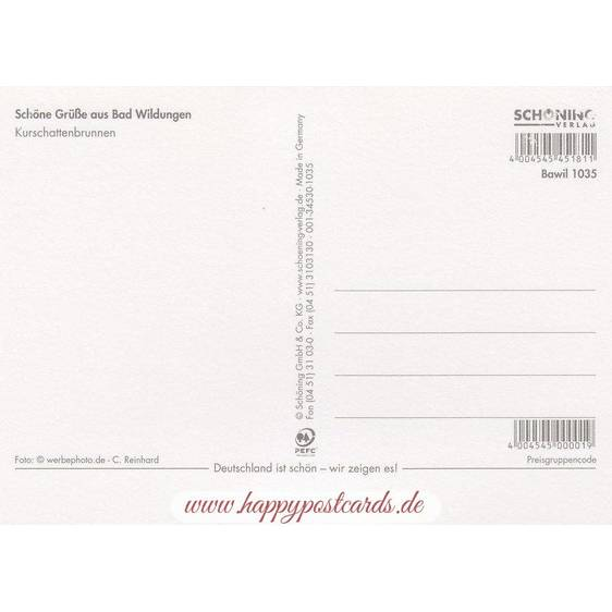 Bad Wildungen Briefmarkenrand - Postkarte