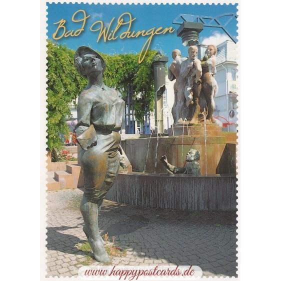 Bad Wildungen - Stampborder - Postcard