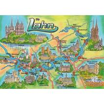 Lahn - Map - Postcard
