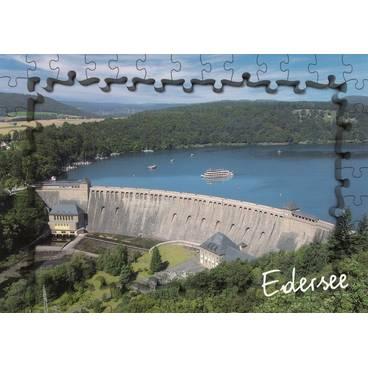 Edersee - Puzzlerand - Ansichtskarte