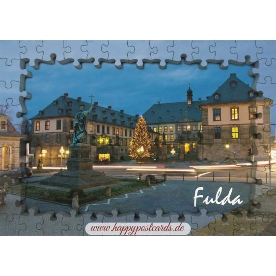 Fulda - Stadtschloss - Puzzlerand - Ansichtskarte