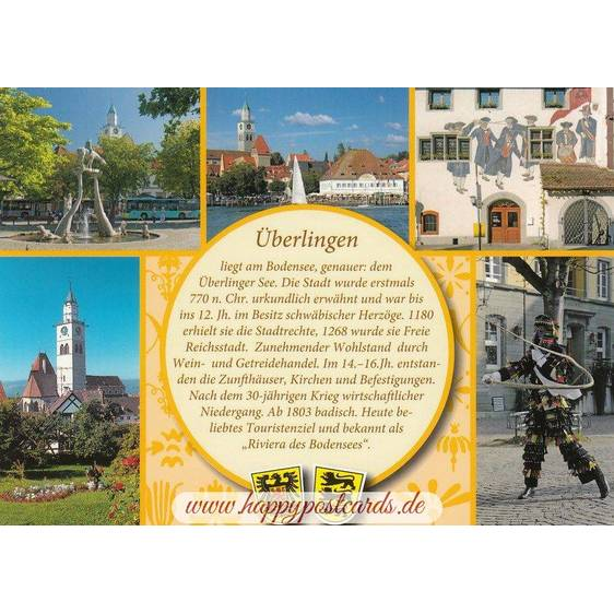 Überlingen - Yellow Chronicle - Viewcard