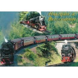 Harzquer-& Brockenbahn - Ansichtskarte