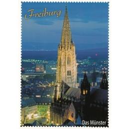 Freiburg - Briefmarkenrand - Postkarte