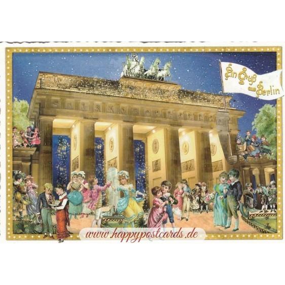 Berlin - Brandenburger Tor - Tausendschön - Postcard