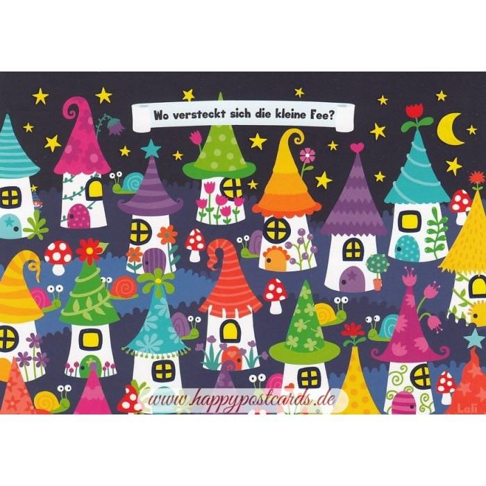 postkarten lali wo versteckt sich die kleine fee lali postkarte correspondances. Black Bedroom Furniture Sets. Home Design Ideas