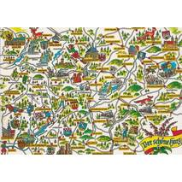 Der Harz - Map - Ansichtskarte