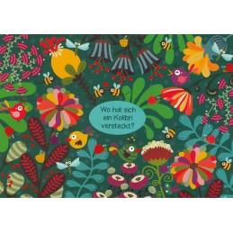 Wo hat sich ein Kolibri versteckt? - Lali Postkarte