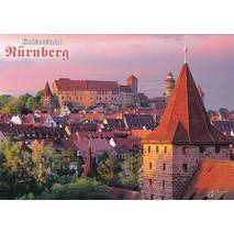 Nürnberg - Old town with castle - Viewcard