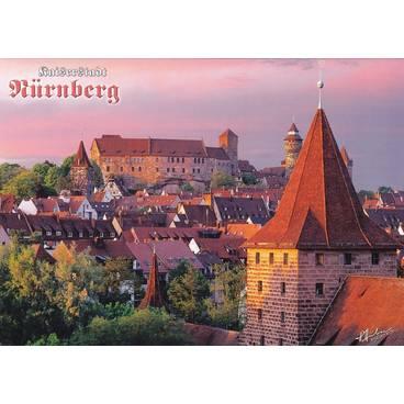 Nürnberg - Altstadt mit Kaiserburg - Ansichtskarte