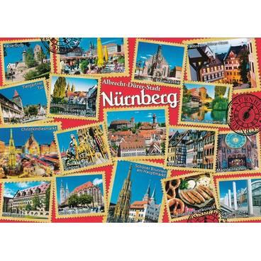 Nürnberg - Briefmarken - Ansichtskarte