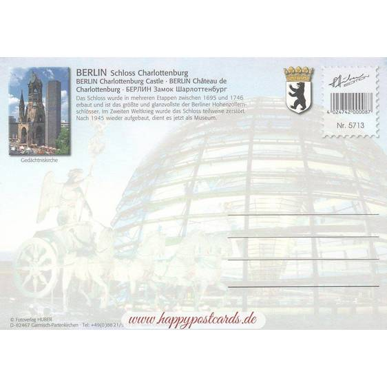 Berlin - Charlottenburg Castle - Viewcard