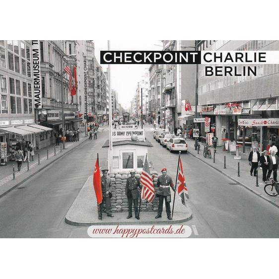 Berlin - Checkpoint Charlie - Viewcard