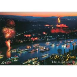 St. Goar - Rhein in Flammen 2 - Ansichtskarte