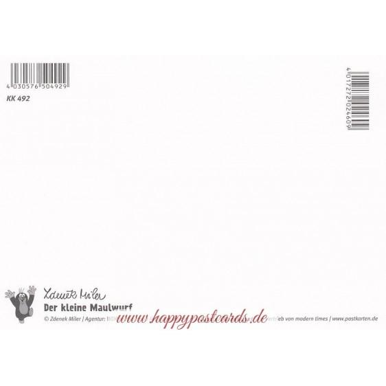Der Maulwurf pflückt Kamille - Krtek - Postkarte