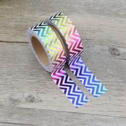 Rainbow Jags - Foil - Washi Tape - Masking Tape