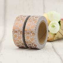 Blumen Kupfer - Folie - Washi Tape - Masking Tape