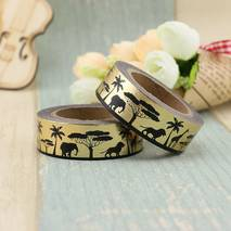 Afrika Gold - Foil - Washi Tape - Masking Tape