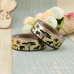 Afrika Gold - Foil - Washi Tape - Masking Tape