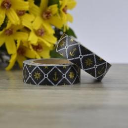 Anker - Black Foil - Washi Tape - Masking Tape