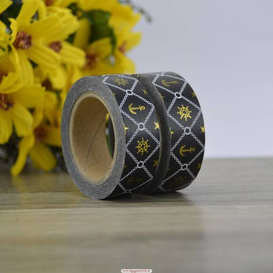 Anker - Schwarze  Folie - Washi Tape - Masking Tape