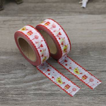Vogel rot/gelb - Washi Tape - Masking Tape