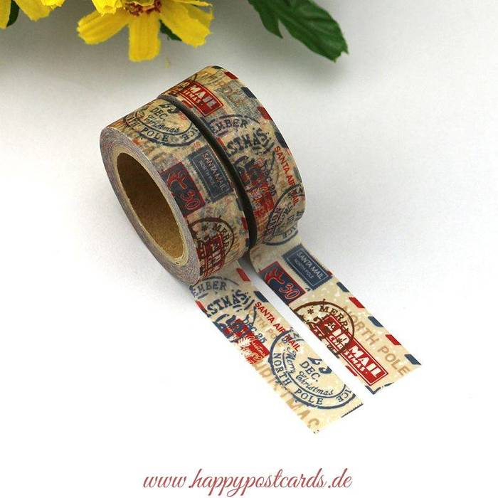 washi tape us mail washi tape masking tape happy postcards. Black Bedroom Furniture Sets. Home Design Ideas