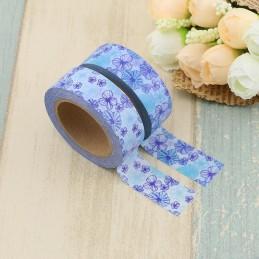 Blue Flowers - Washi Tape - Masking Tape