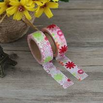 Red Flowers - Washi Tape - Masking Tape