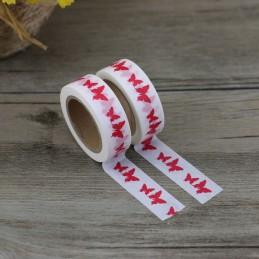 Rote Schmetterlinge - Washi Tape - Masking Tape