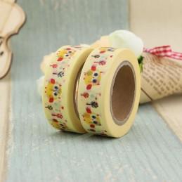 Yellow Owls - Washi Tape - Masking Tape
