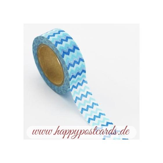 Blue Jags - Washi Tape - Masking Tape