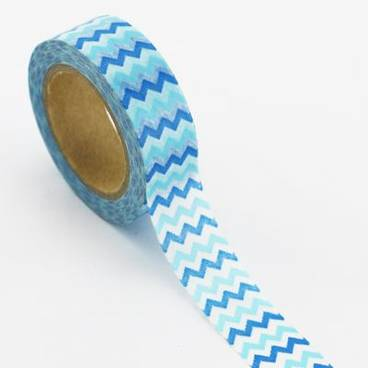 Blaue Zacken - Washi Tape - Masking Tape