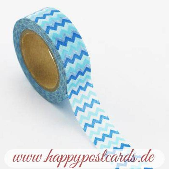 washi tape blaue zacken washi tape masking tape happy postcards. Black Bedroom Furniture Sets. Home Design Ideas