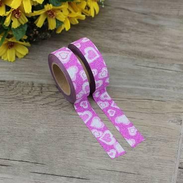 Rosa Herzchen - Glitter - Washi Tape - Masking Tape