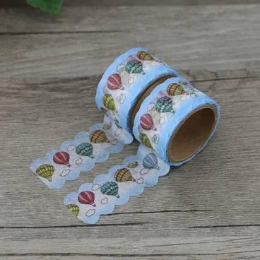 Heißluftballons Gestanzt - Washi Tape - Masking Tape