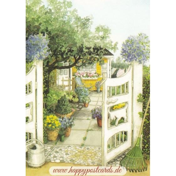 106 - Garden Gate - Postcard